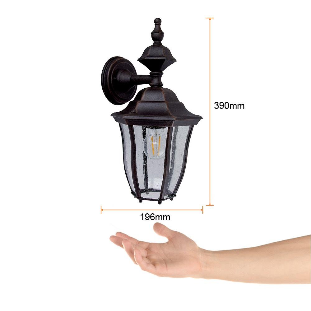 FAROL PARED INVERTIDO 100W/127V. CTAL. SEEDY BRONCE ANTIGUO