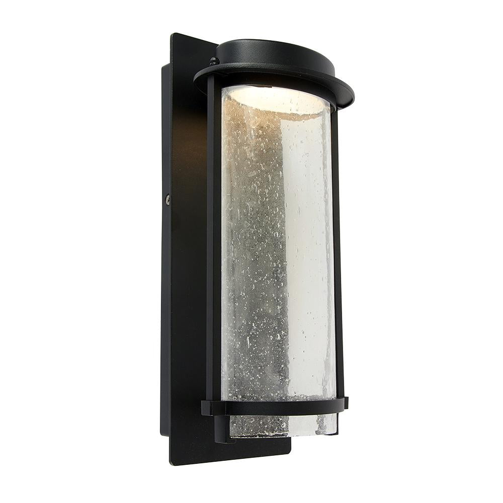 LUMINARIO RECTANGULAR P/EXTERIOR MURO LED 16W 3000K 730LM COLOR NEGRO MCA. TECNOLITE