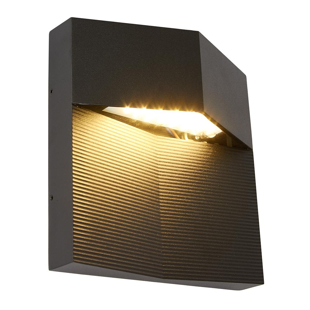 LUMIN. EXT. LED P/MURO SPECTRUM NEGRO 8W/100-240V 3000K