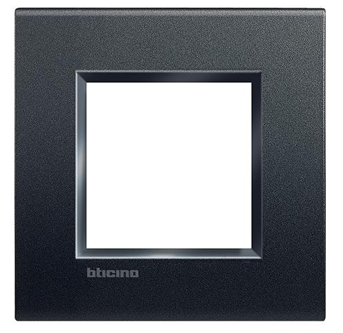 PLACA CUADRADA COLOR NEGRO ANTRACITA 2 MOD. LNA4802AR LIVING Y LIGHT