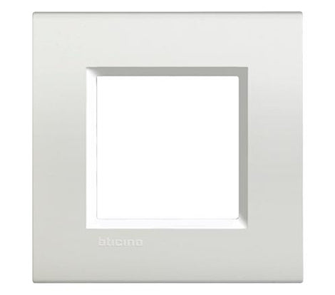 PLACA RECTANGULAR COLOR BLANCO 2 MOD. LNA4802BI LIVING Y LIGHT