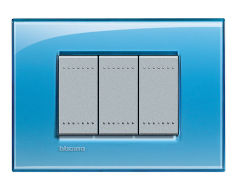 PLACA RECTANGULAR COLOR AZUL 3 MOD. LNA4803AD LIVING Y LIGHT