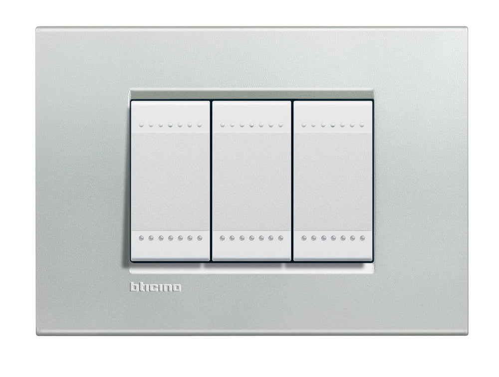 PLACA RECTANGULAR COLOR PLATA 3 MOD. LNA4803AG LIVING Y LIGHT