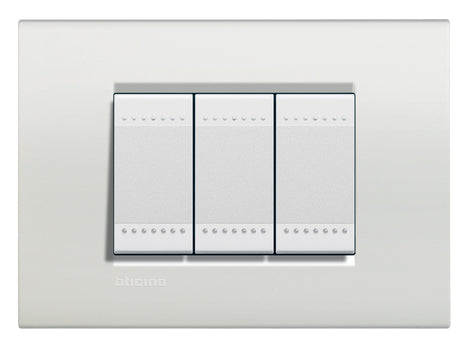 PLACA RECTANGULAR COLOR BLANCO 3 MOD. LNA4803BI LIVING Y LIGHT