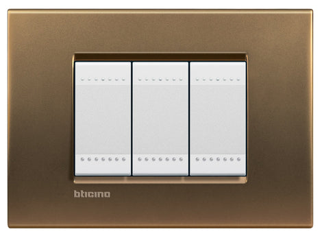 PLACA RECTANGULAR COLOR BRONCE 3 MOD. LNA4803BZ LIVING Y LIGHT