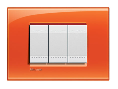 PLACA RECTANGULAR COLOR NARANJA 3 MOD. LNA4803OD LIVING Y LIGHT