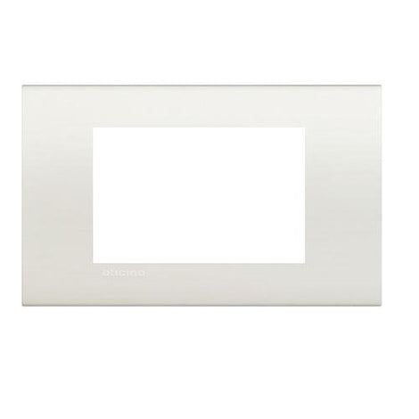 PLACA RECTANGULAR COLOR BLANCO 4 MOD. LNA4804BI LIVING Y LIGHT