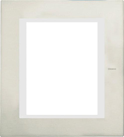 PLACA RECTANGULAR COLOR BLANCO 3+3 MOD. LNA4826BI LIVING Y LIGHT