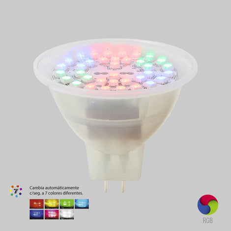 LAMP. RGB MR16 SMDLED/3WRGB MULTICOLOR*** OFRECER LA330P/4W ***