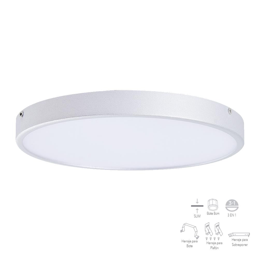 PLAFON DIMEABLE REDONDO LED 6500K 9W