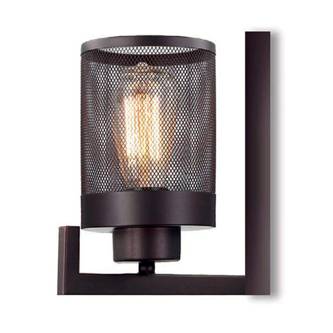 LUMINARIA DE PARED COLOR NEGRO 1 X 60 W MÁLAGA