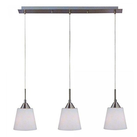COLGANTE 3 LUCES CRISTAL OPALINO 3X60W.TH6010/3NS