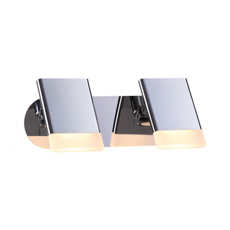 LUMINARIA LED DE PARED COLOR CROMO 2 X 5 W NIZA