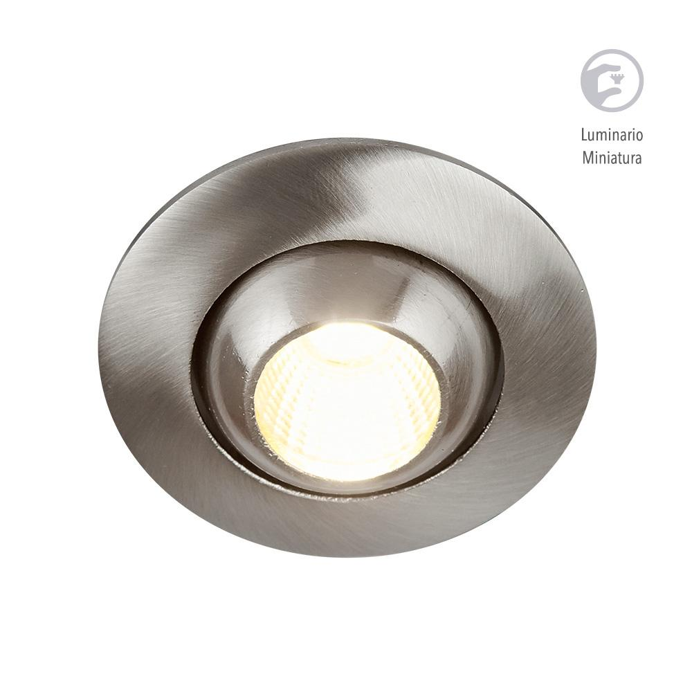 LUMINARIO LED EMPOTRADO SATIN 4W/100-240V. 46MM. ABEBA