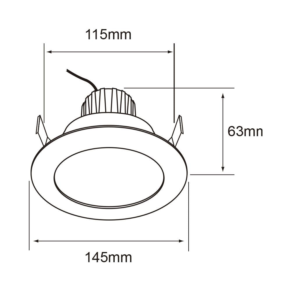 LUMIN. INT. TECHO LED 11W/100-240V 3000K