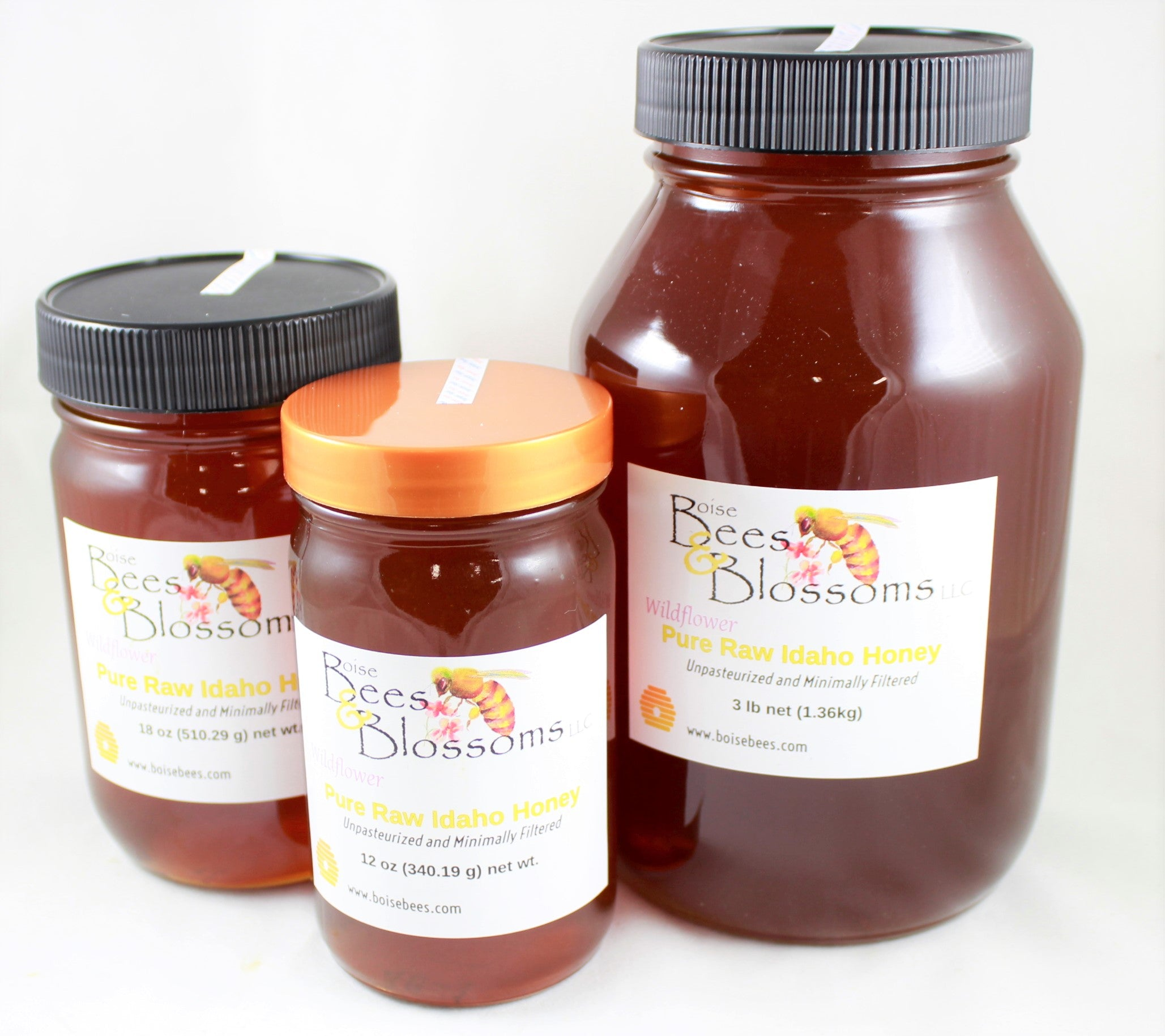 Raw Honey 3 lb jar (1.36kg)