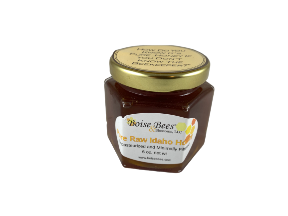 Raw Honey 6 oz jar (170g)