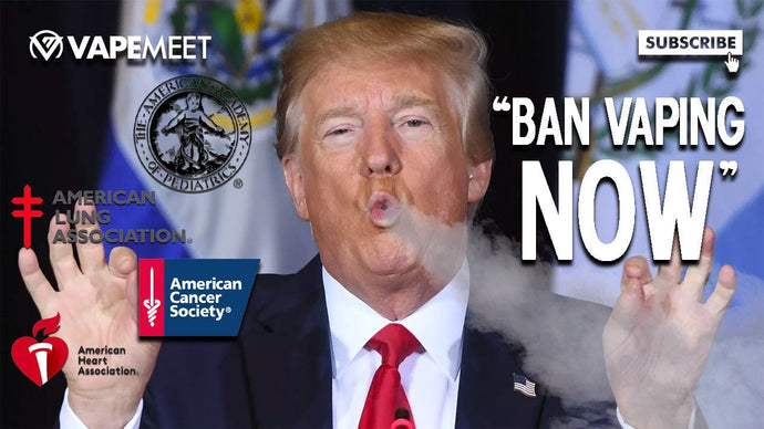Health Organizations Pressure Trump to BAN Vaping
