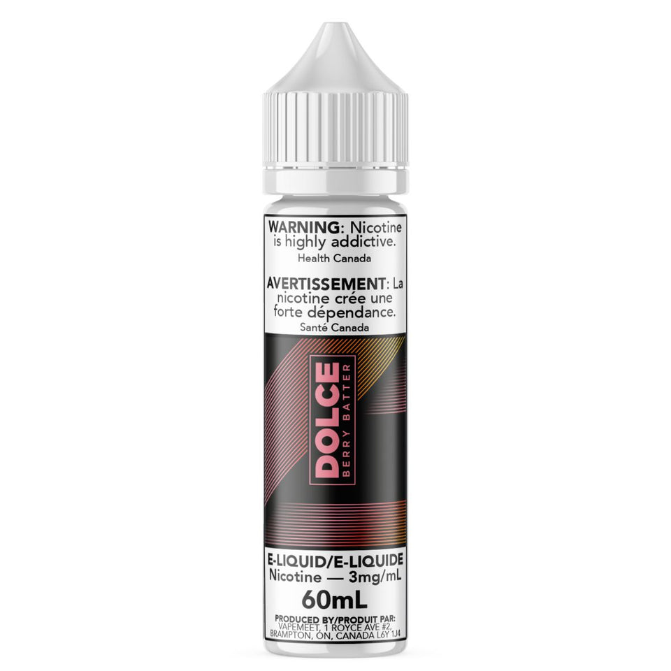 Dolce - Berry Batter E-Liquid Dolce 60mL 0 mg/mL