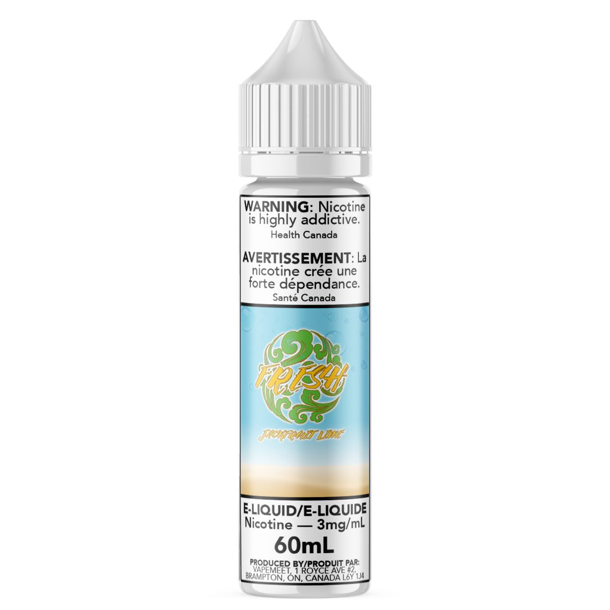 Fresh - Jackfruit Lime E-Liquid Fresh 60mL 0 mg/mL