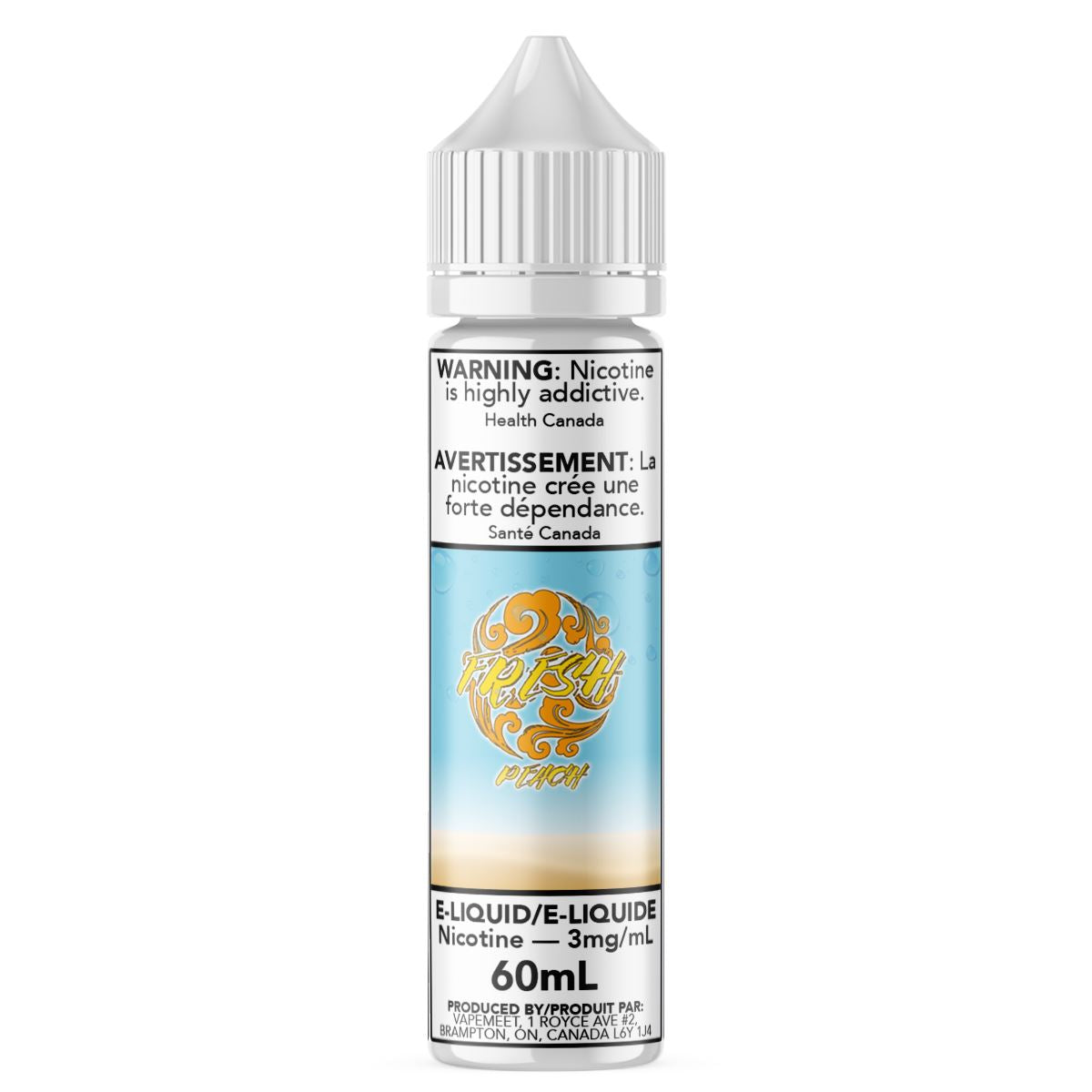 Fresh - Peach E-Liquid Fresh 60mL 0 mg/mL