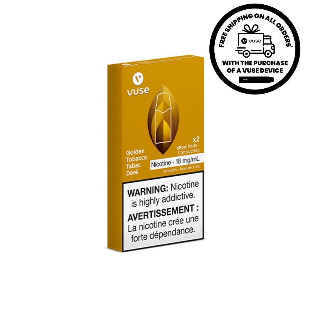 Vuse - Golden Tobacco ePods Pre-filled Pod Vuse 3%