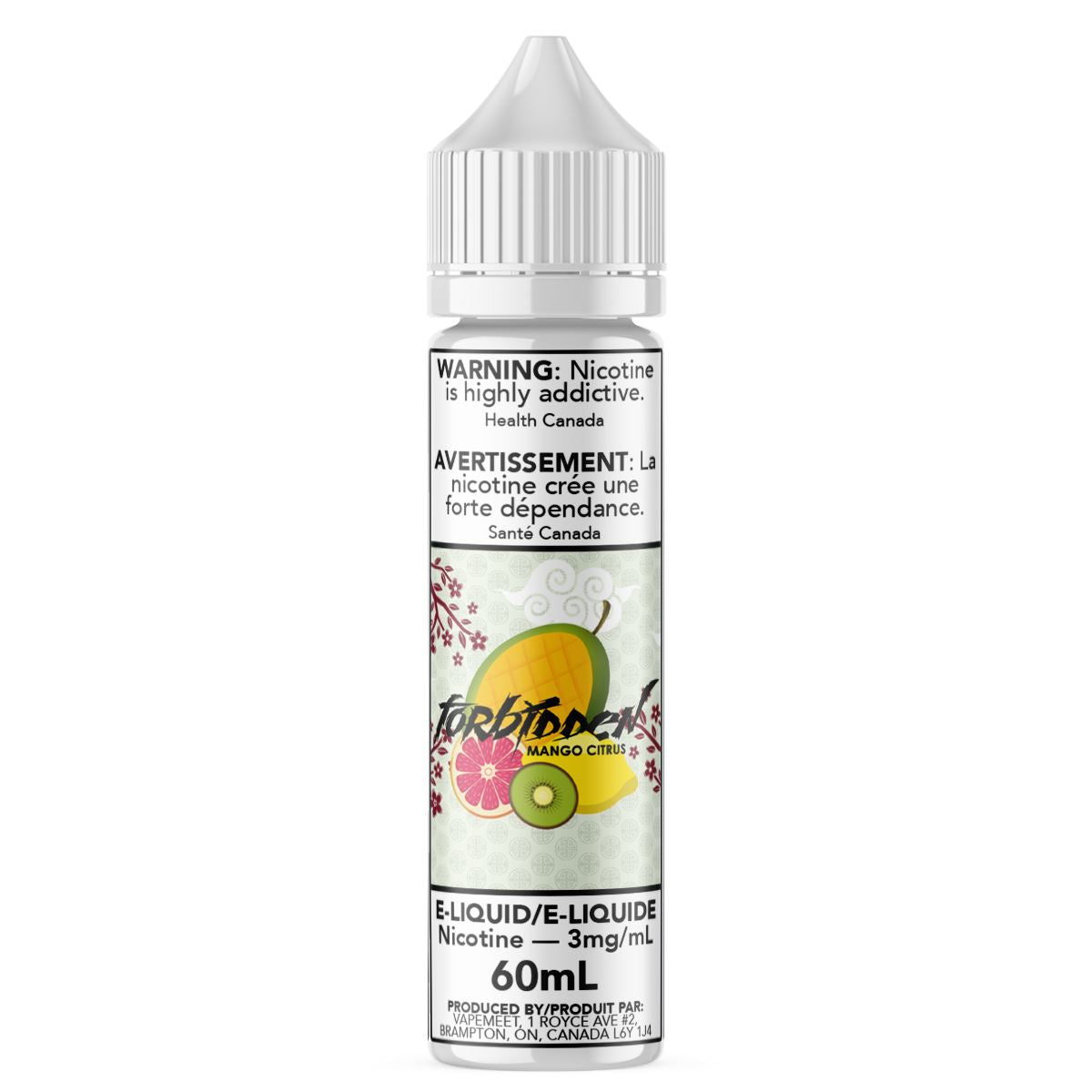 Forbidden - Mango Citrus E-Liquid Forbidden 60mL 0 mg/mL