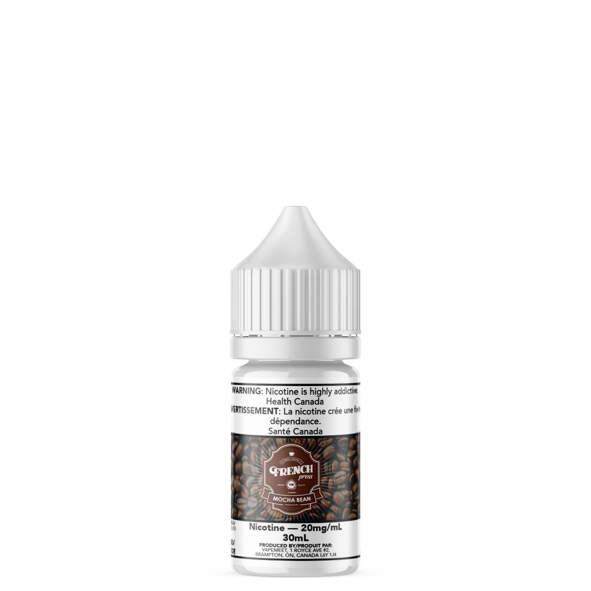 French Press Salted - Mocha Bean E-Liquid French Press Salted 30mL 20 mg/mL