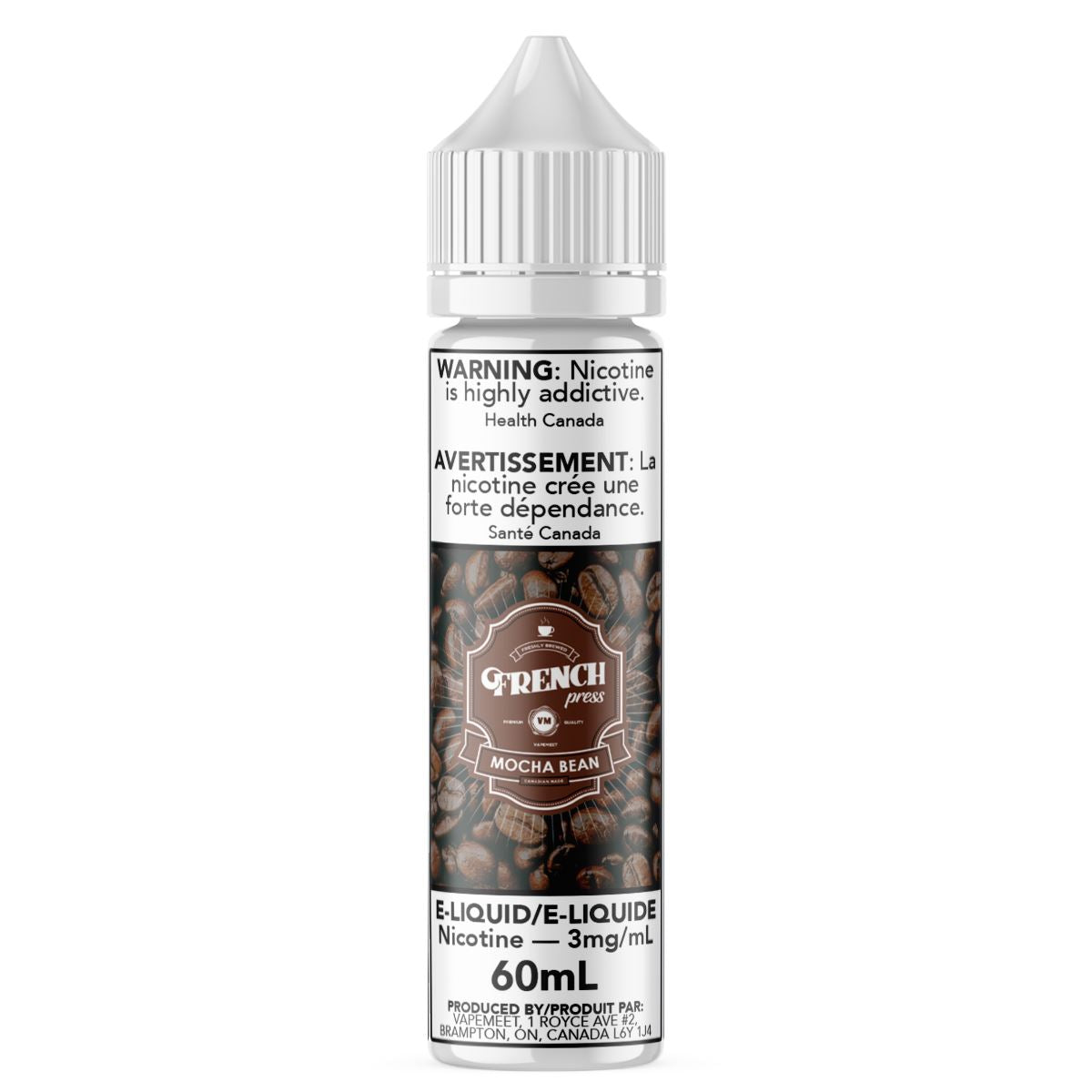 French Press - Mocha Bean E-Liquid French Press 60mL 0 mg/mL