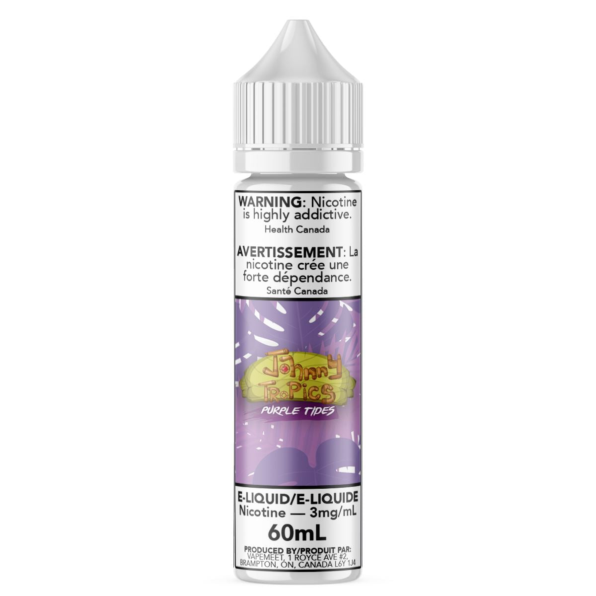 Johnny Tropics - Purple Tides E-Liquid Johnny Tropics 60mL 0 mg/mL