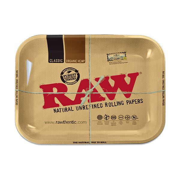 Raw - Metal Rolling Tray Rolling Tray Raw Large
