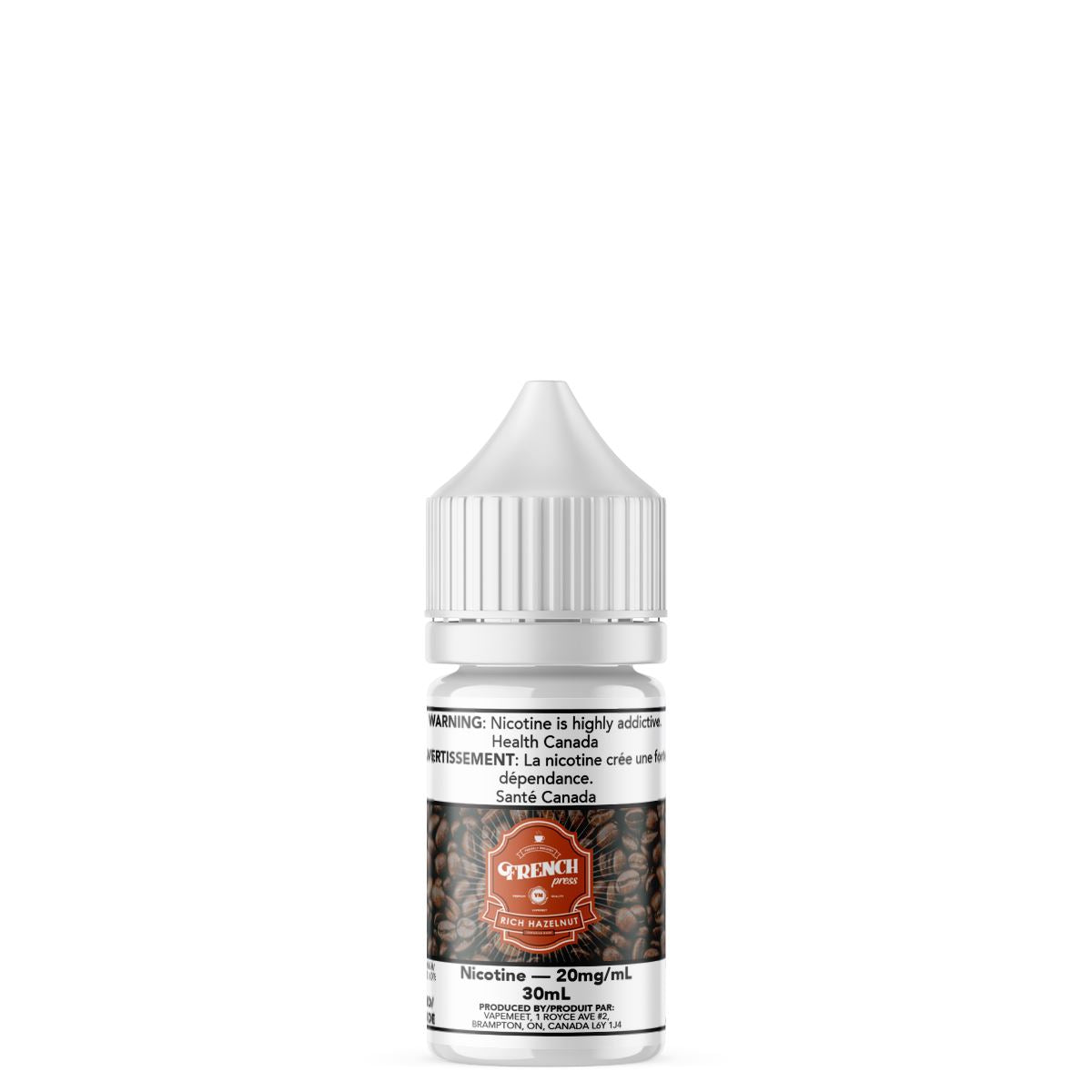 French Press Salted - Rich Hazelnut E-Liquid French Press Salted 30mL 20 mg/mL