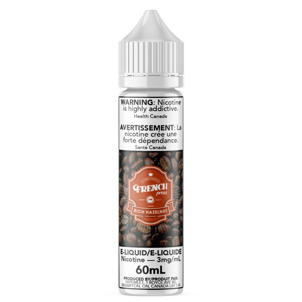 French Press - Rich Hazelnut E-Liquid French Press 60mL 0 mg/mL
