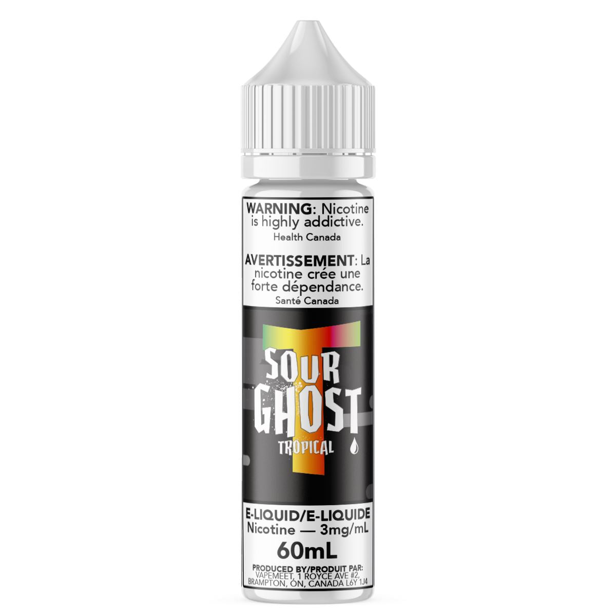 Ghosted - Sour Ghost Tropical E-Liquid Ghosted 60mL 0 mg/mL