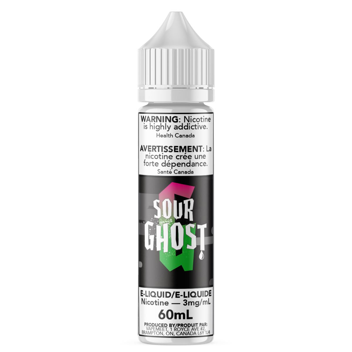 Ghosted - Sour Ghost E-Liquid Ghosted 60mL 0 mg/mL