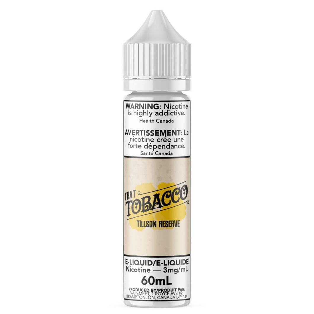That Tobacco - Tillson Reserve E-Liquid That Tobacco 60mL 0 mg/mL