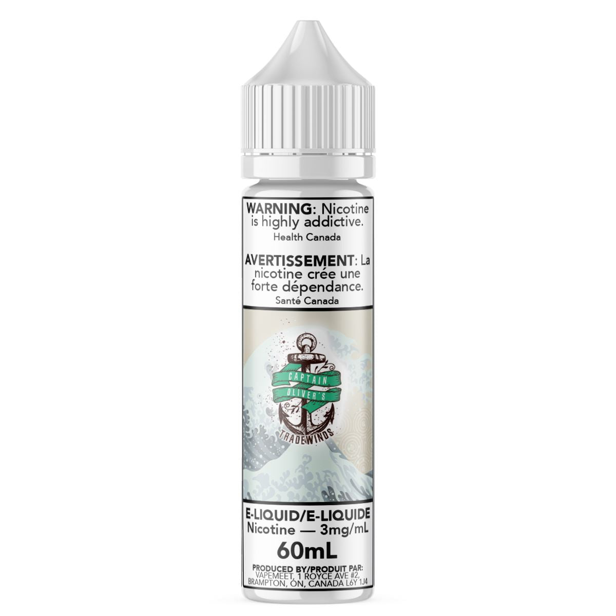 Captain Oliver's - Tradewinds E-Liquid Captain Oliver's Custards & Puddings 60mL 0 mg/mL