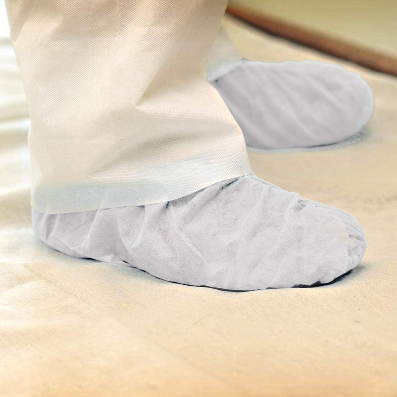 Super Tuff Non-skid Shoe Guards-One Time Use, Disposable Shoe Cover- 10 Pairs Per Pack