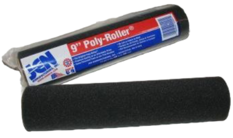 "9"" Black Foam Roller Cover 3/16"" Nap- Roller Cover For Paint, Stains And More"