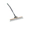 "Seymour s500 Industrial 24"" Duo Broom, 60"" Ergonomic Powder-Coated Aluminum Handle"