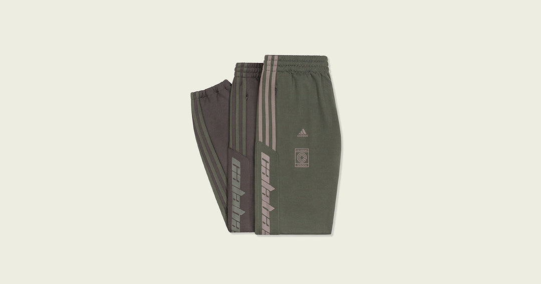 71835bedf0055 YEEZY Calabasas pants are back once again for the cold weather. adidas +  Kanye West are releasing more colourways in the famous CALABASAS Track pant.