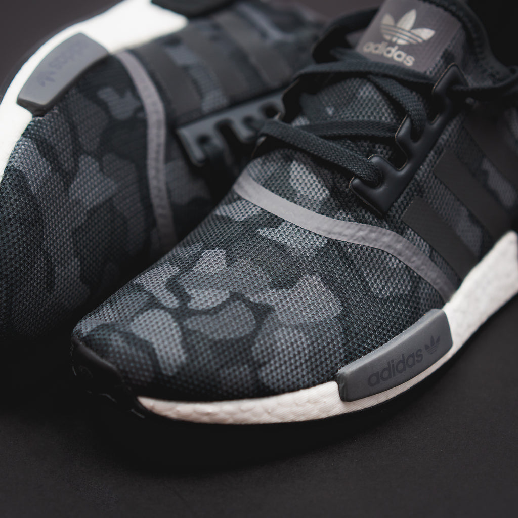 Adidas Originals NMD R1 Boost Duck Camo BlackGrey & Sesame