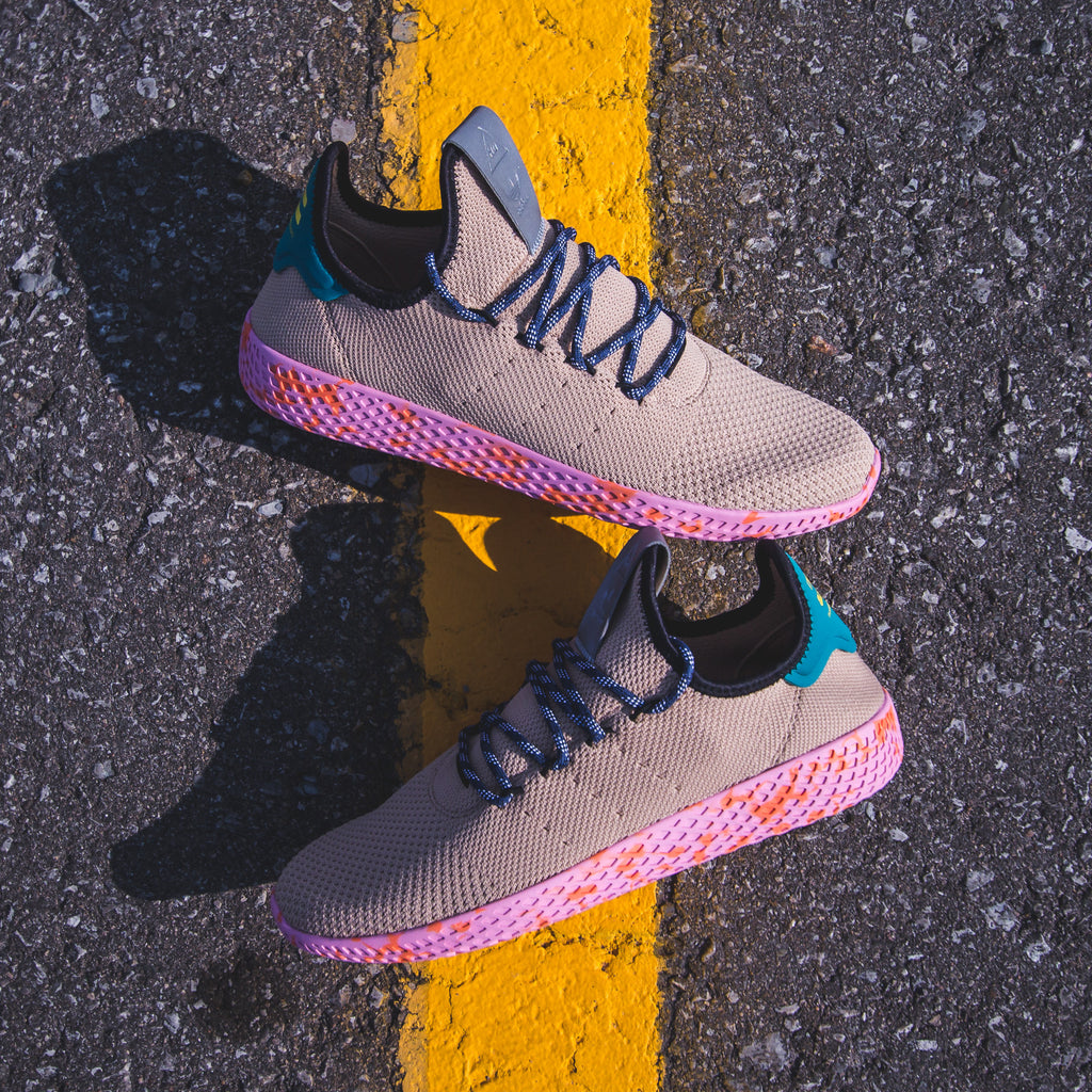 4368cbbc2 Click here to purchase the Tan Pink Marble Tennis HU on our Solestop  website once live. Pharrell Williams x Adidas ...