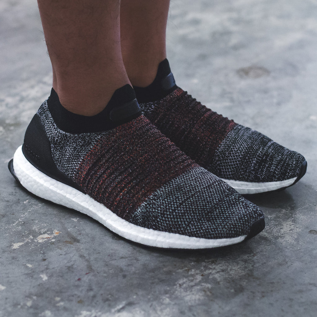 Adidas Running UltraBOOST PK Primeknit Laceless Mid - Triple-White (S80768) / Black/Red(S80769)