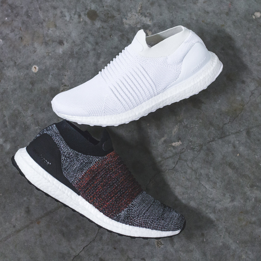 6243dd330 Adidas Running UltraBOOST PK Primeknit Laceless Mid in Black/Red - S80769