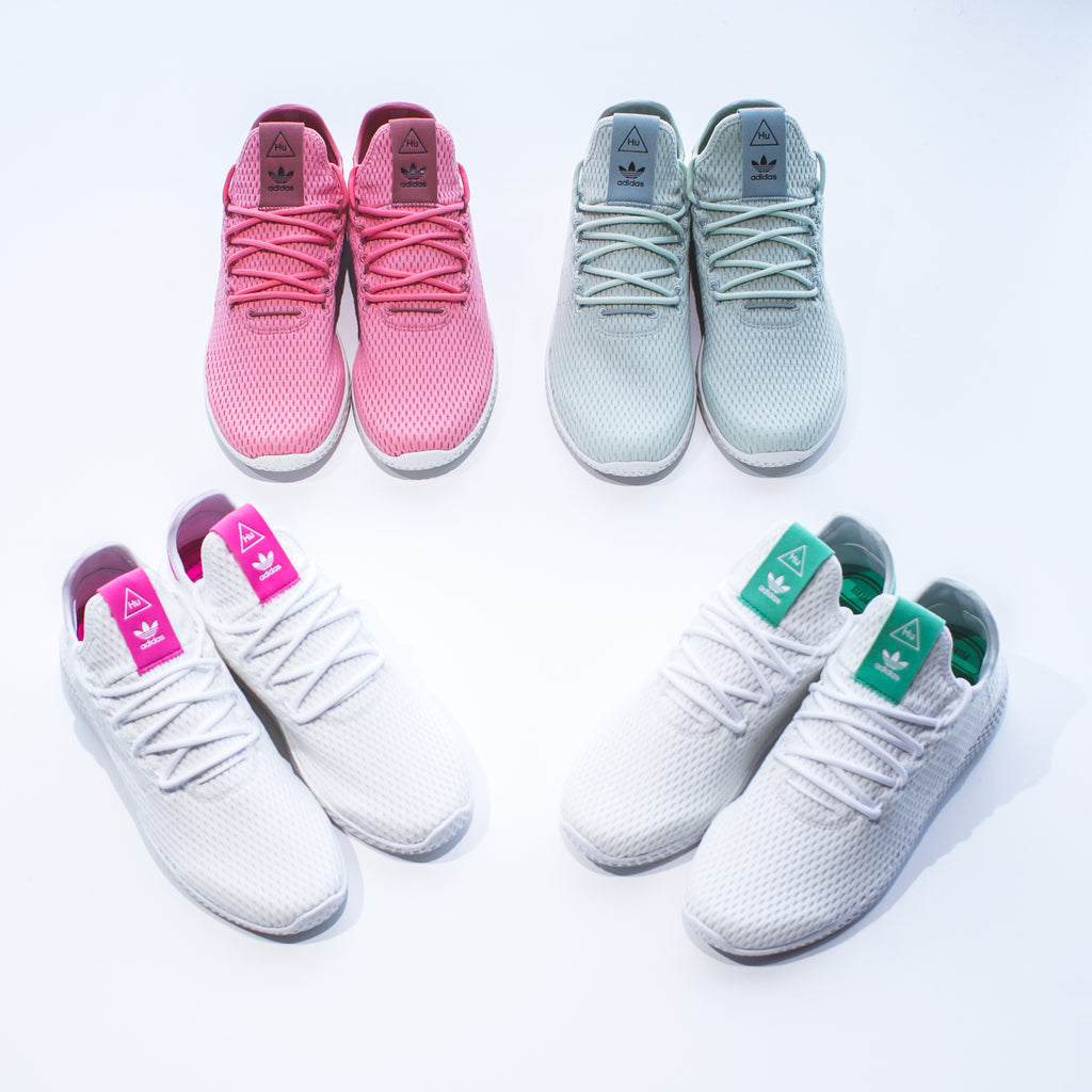 47efcf050 Pharrell Williams x Adidas Originals Tennis HU in White  Raw Pink - CP9765  Price   140 CAD Available Sizing  8 - 13 US MENS
