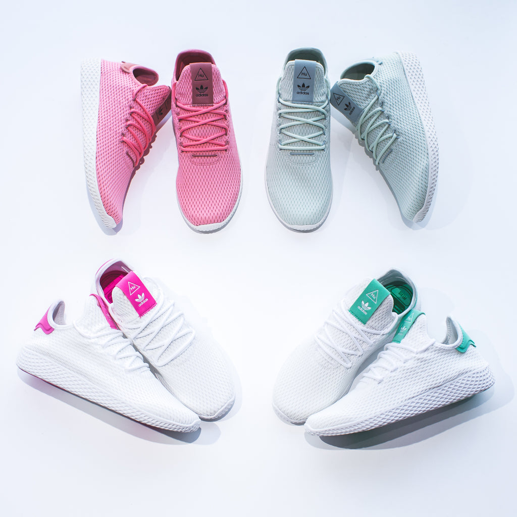 5a006bd82ce Pharrell Williams x Adidas Originals Tennis HU in White  Raw Pink - CP9765  Price   140 CAD Available Sizing  8 - 13 US MENS