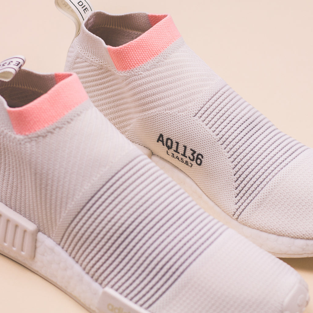 687bfd801 Adidas Originals NMD CS1 PK Primeknit W Women Boost White Clear ...