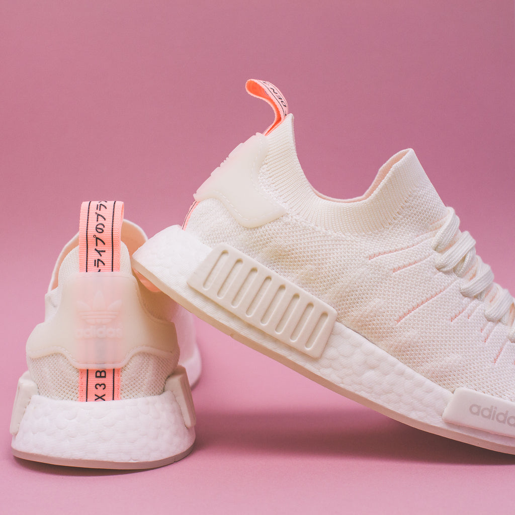 569c14da26c83 Adidas Originals NMD R1 STLT Pk W Women Boost White Clear Orange B37655.  Price   230 CAD. Available Sizing  5-9 US Women s. Click Shop Now when the  release ...