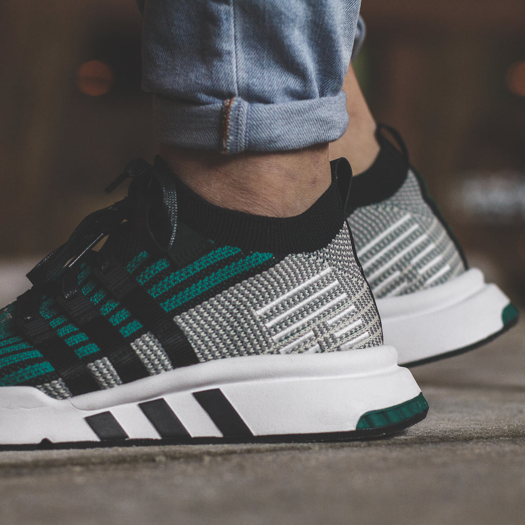 adidas Originals EQT Support Mid ADV PK in Core-Black/EQT Green - CQ2998
